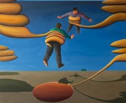 Buße (atonement), 2016, Öl/LW, 135x145 cm