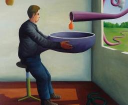 Divine-Pipeline, 2010, Öl/LW, 100x100cm