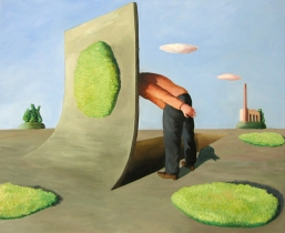 Grube, 2008, l/LW, 85x75cm