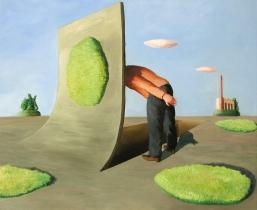 Grube, 2008, Öl/LW, 85x75cm