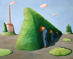 Hecke, 2008, Öl/LW, 100x80cm
