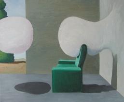 Wandblasen, 2007, Öl/LW, 85x75cm