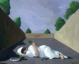 Schlaefer, 2005, Gouache/Karton, 30x26 cm