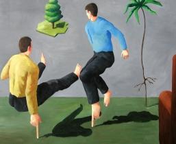 Stuetze, 2006, Öl/LW, 115x120cm