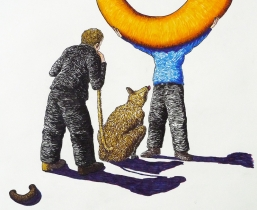 Dog eat Dog Competition, 2011, farbige Tuschen, 50x60cm