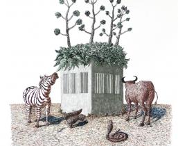 Home Plantation, 2010, Tusche/Bleistift, 40x50cm