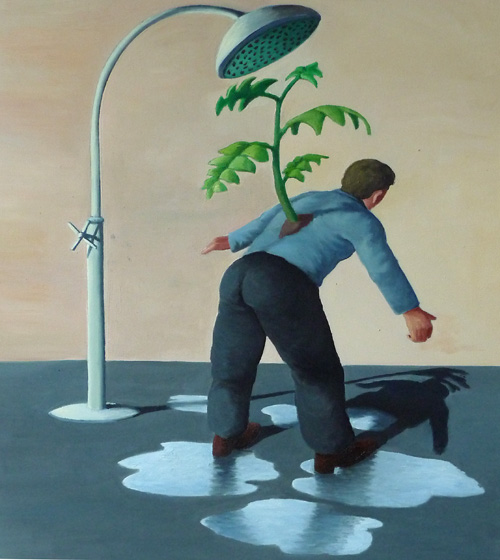 to grow a plant, 2009, 60x70 cm