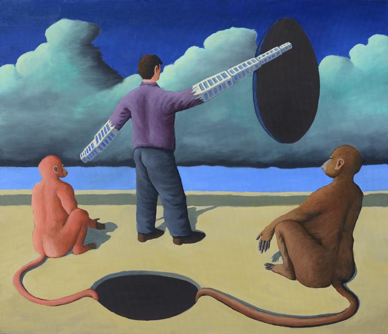 Affen und Löcher